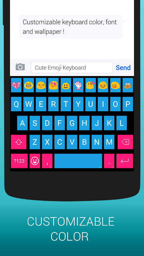 Emoji Keyboard Cute Emoticons Screenshot 5