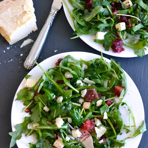 Blood Orange, Mozzarella and Arugula Salad