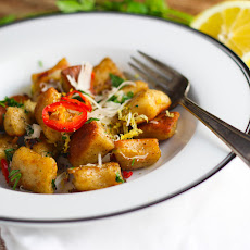 Pan Fried Lemon Ricotta Gnocchi