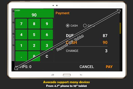 Avocado F&B POS - screenshot