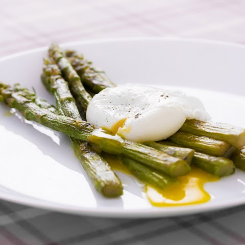 Jumbo Asparagus with Poached Egg