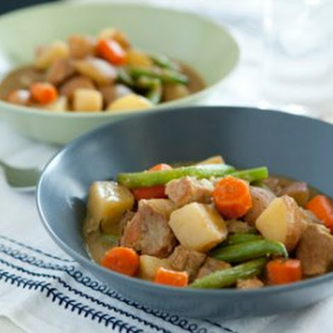 Curried Pork Stew with Potatoes and Green Beans