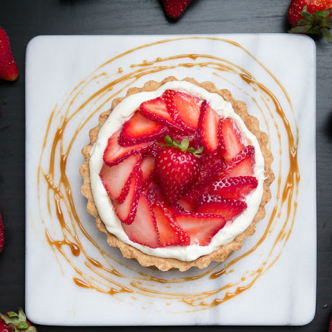 Strawberry White Balsamic Caramel Tarts