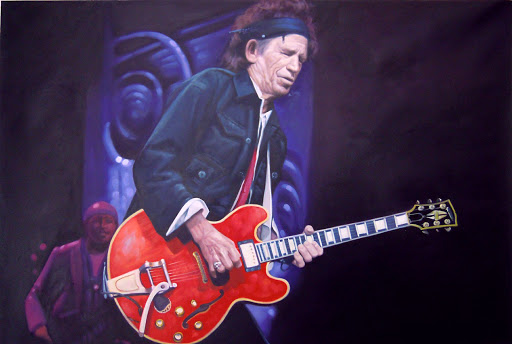 Keith Richards - Olieverf op Canvas - 60 x 90 cm