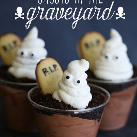 Ghosts in the Graveyard Chocolate Pudding Cups