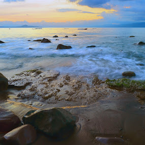 Ordinary Beach by Harry Cahyono - Landscapes Waterscapes