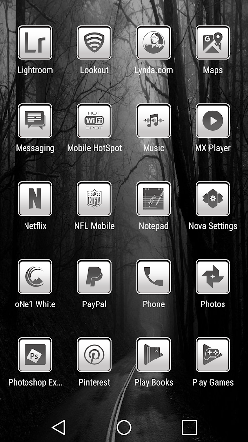 oNe1 White - Icon Pack Screenshot 4