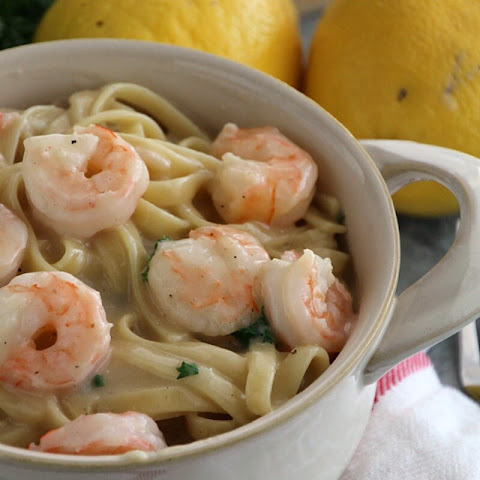 Lighter One Pot Lemon Shrimp Alfredo