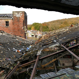 Brick works by Andy Bampton - Buildings & Architecture Decaying & Abandoned ( roof, urbex, framing, abandonded, decay )