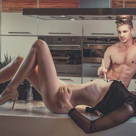Let him make dinner by Peter Driessel - Nudes & Boudoir Boudoir