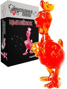 3D Crystal Puzzle Цыпленок L красный