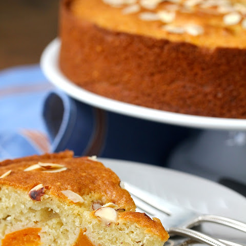 Apricot, Almond, & Olive Oil Cake with Vanilla and Lemon