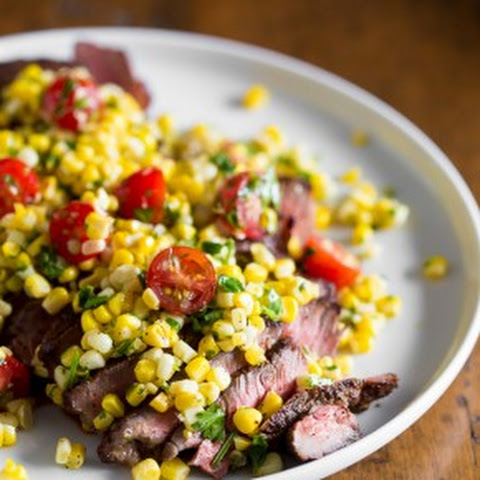 Grilled London Broil with Corn Salsa