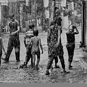 Childhood memory by ডাঃ মুহাম্মদ হাসান - City,  Street & Park  Street Scenes ( bangladesh, children, childhood, memories, rain, dhaka )