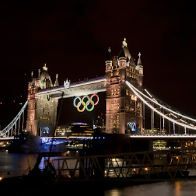 Tower Bridge by Jayne Hodge - Buildings & Architecture Bridges & Suspended Structures ( tower bridge, night, london olympics )