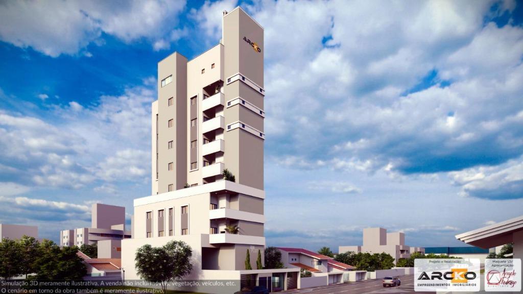 Apartamento com 3 dormitórios à venda, 91 m² por R$ 480.000,00 - Centro - Tijucas/SC