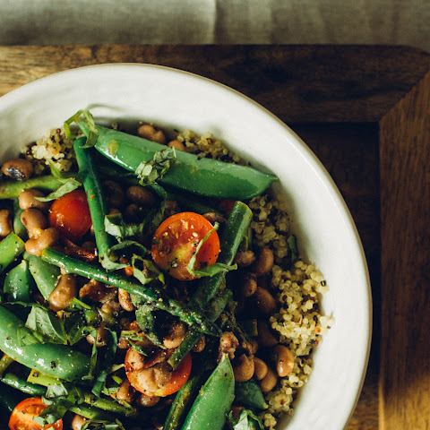 Asparagus & Snow Pea Salad with Black Eyed Peas