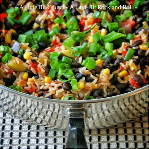 Easy Black Bean and Rice Veggie Skillet
