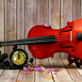 A violin still life by Dipali S - Artistic Objects Musical Instruments ( concert, baroque, silhouette, orchestra, symphony, object, viola, performance, melody, musician, cello, closeup, key, symphonic, black, music, isolated, musical, symbol, beautiful, art, white, instrument, classical, violin, string, background, artistic, instruments )