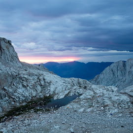 Sunrise on Whitney trail by Greg Head - Novices Only Landscapes ( water, clouds, mountains, weather, sunrise, granite )