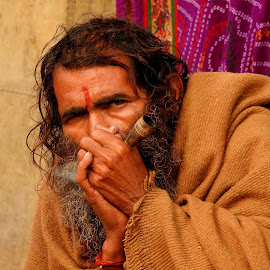 PILGRIM by Ajit Kumar Majhi - People Portraits of Men (  )