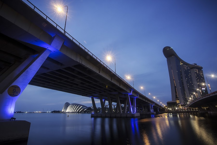 Dawn Sky by Irfan Chen - Buildings & Architecture Bridges & Suspended Structures