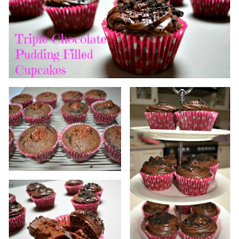 Triple Choc Pudding Filled Cupcakes