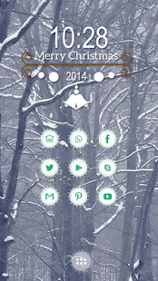 Dyed white branches theme - screenshot