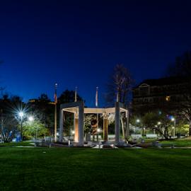 Korean War Memorial Boston by Michael Phillips - Buildings & Architecture Statues & Monuments ( harbor, boston, night photography, long exposure )