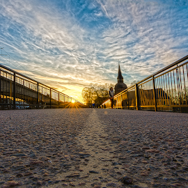 Ground level by Manu Heiskanen - City,  Street & Park  Street Scenes ( sweden, church, eskilstuna, bridge, pavement )