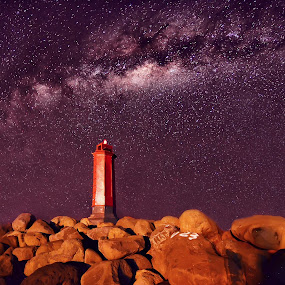 milkyway by Dede GreenHolic - Landscapes Starscapes ( tower, nature, stone, landscape, nightscape )