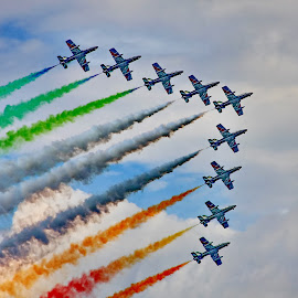 Frecce Tricolori - Zeltweg Airpower 2016 by Bernarda Bizjak - Transportation Airplanes