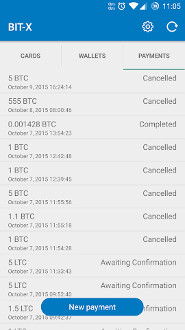 android BIT-X Bitcoin Wallet Screenshot 3
