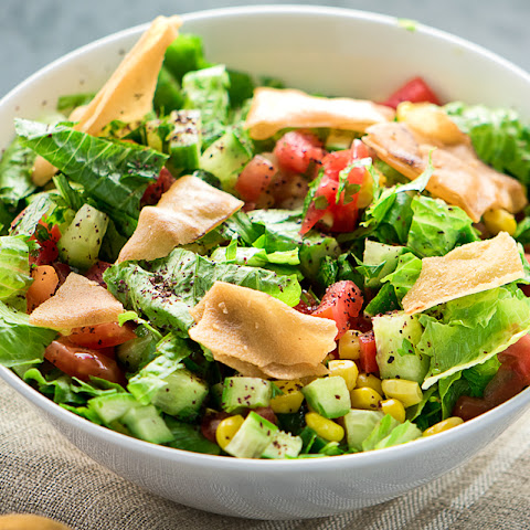 FATTOUSH RECIPE ( ARABIC SALAD)