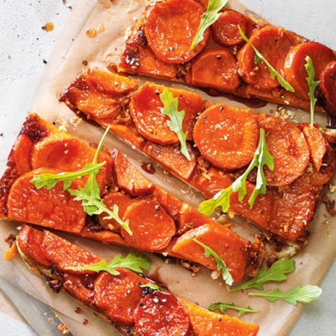 Sweet Potato and Two-Cheese Tarte Tatin