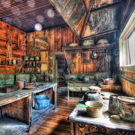 Abandoned Kitchen by Eric Demattos - Buildings & Architecture Decaying & Abandoned ( eric demattos, garnet, ghost town, table, kitchen, forgotten, abandoned )