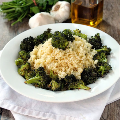 Broccoli Couscous Pilaf with Garlic Butter