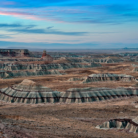 Coal Mine Canyon at Sunrise by Dale Kesel - Landscapes Sunsets & Sunrises ( desert, sky, reservation, arizona, southwest, unique land forms, canyon, sunrise, native american )