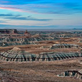 Coal Mine Canyon at Sunrise by Dale Kesel - Landscapes Sunsets & Sunrises ( desert, sky, reservation, arizona, southwest, unique land forms, canyon, sunrise, native american )