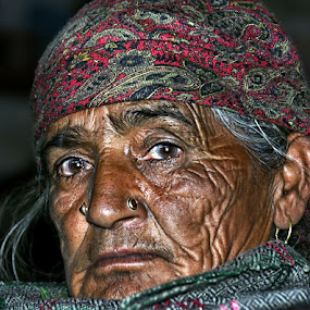 Eyes..Have seen it all !! by Veeresh Pathania - People Portraits of Women