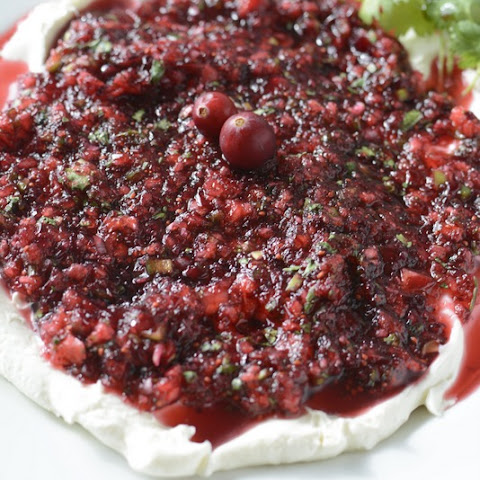 Cranberry Jalapeno Salsa Cream Cheese Dip