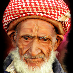 Old Man by Surya Hidayat HB - Digital Art People