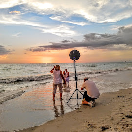 Beach Wedding Shoot by Jeffrey Lee - Landscapes Beaches ( beach wedding shoot )