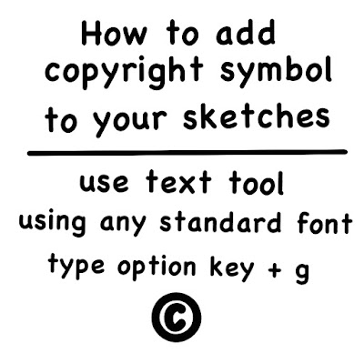 How To Add Copyright Symbol To Your Sketches By Shelly