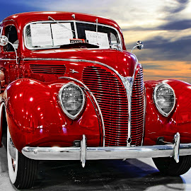 1938 Ford by JEFFREY LORBER - Transportation Automobiles ( red, lorberphoto, 1938, @lorberphoto, jeff lorber, rust 'n chrome, 1938 ford, ford, @gatewayclassiccars, jeffrey lorber, red car )