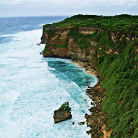 Uluwatu Cliff by Eric Craig Ansibin-Edong - Landscapes Waterscapes