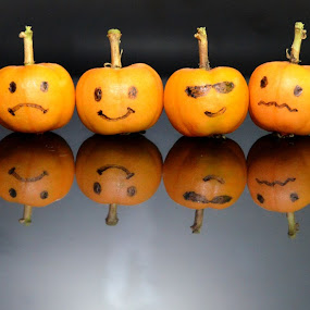 happy litle pumpkins by Elvis Hendri - Artistic Objects Other Objects ( orange, fruit, think, artistic, pumkin, object, halloween )