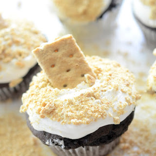 Skinny S'mores Cupcakes