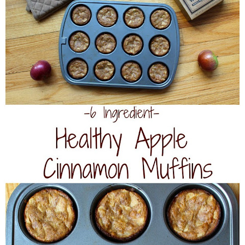 6 Ingredient Healthy Apple Cinnamon Muffins