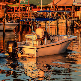 Sunrise Reflections by Scott Bland - Transportation Boats